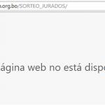 El TSE se volvió a aplazar en internet